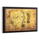 The Hobbit Map of Middle Earth