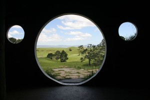 View from Inside a Hobbit Hole
