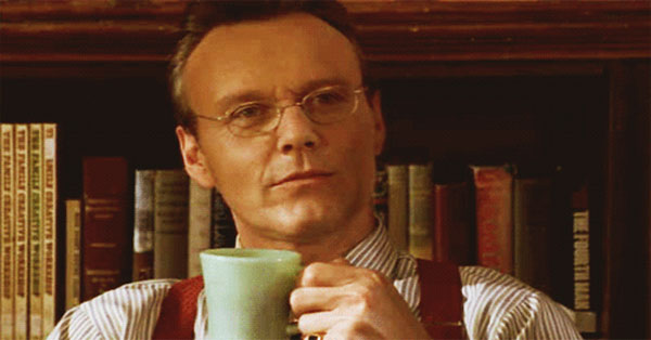 Giles from Buffy the Vampire Slayer: a PBS / NPR type if ever there was one...