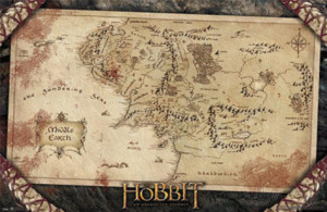 The Hobbit: Map from AllPosters