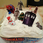 Doctor Who Cake Decorations on our Christmas Cake!