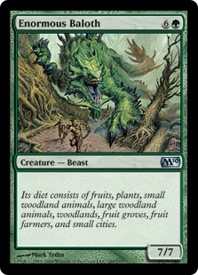 The Enormous Baloth Diet: based on the Magic The Gathering creature that's most obviously dieting!