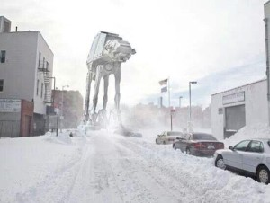Crashed my Car in the Snow, thanks to those pesky Imperial Walkers on the road