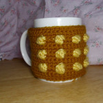 Crocheted Dalek Mug Cosy