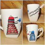 Doctor Who Hand Painted Dalek Mug