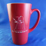 Large Red Engraved Doctor Who Dalek Exterminate! Mug