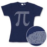 Pi by Numbers Fitted Ladies' Tee