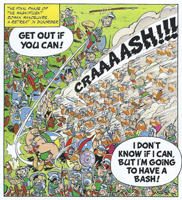Asterix in Britain. Fighting the Romans: Courage in Battle!