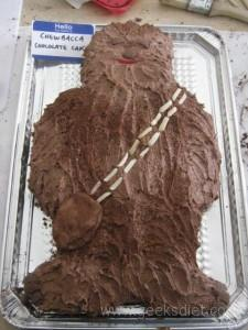 Our Chewbacca Chocolate Cake!