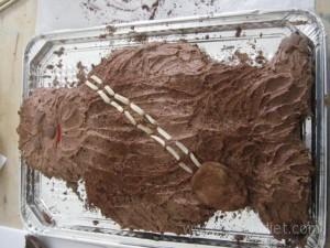 Decorating the Chewbacca Chocolate Cake