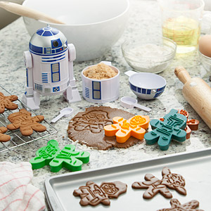 Star Wars Cookie Cutters: Darth Vader, Boba Fett, Chewbacca, Yoda, C-3PO, and a Stormtrooper!