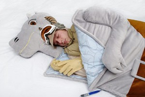 Sweet Dreams! Because there's nothing at all disturbing about a Star Wars Tauntaun Sleeping Bag...