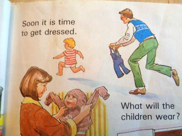 "Ladybird Toddler Books: My Day.  ""Soon it is time to get dressed. What will the children wear?"""