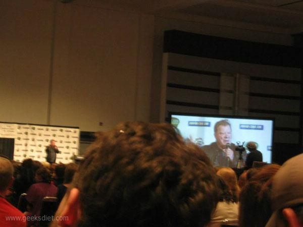 William Shatner at Comic Con: He's a bit blurry in real life.