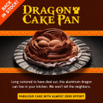 I love this Dragon Cake Pan!