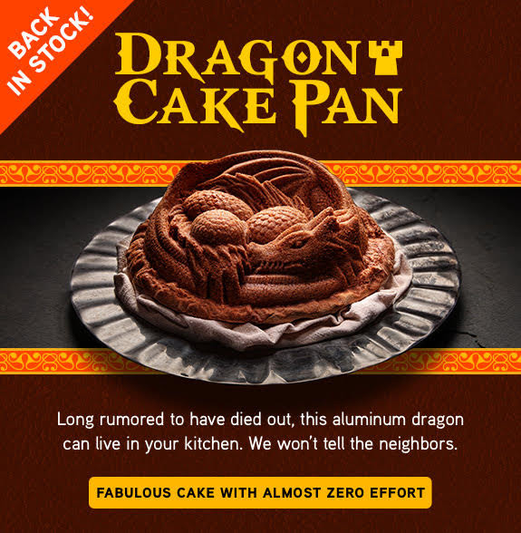 Love this Dragon Cake Pan from Thinkgeek!